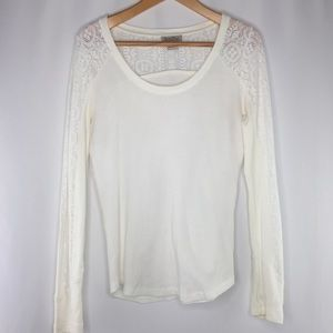 Lucky Brand cream lace thermal